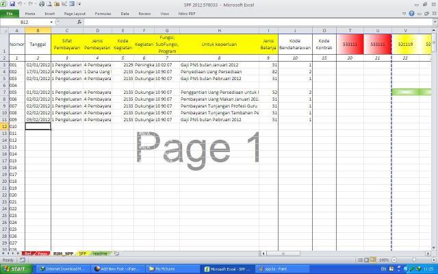 Sheet RUH SPP (Rekam Ubah Hapus)